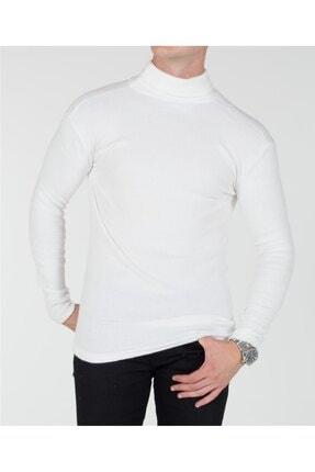 TREND YAŞAR Trend Erkek Beyaz Boğazlı Triko Kazak 0