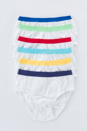تصویر از Beyaz Erkek Çocuk Color 6lı Slip Külot