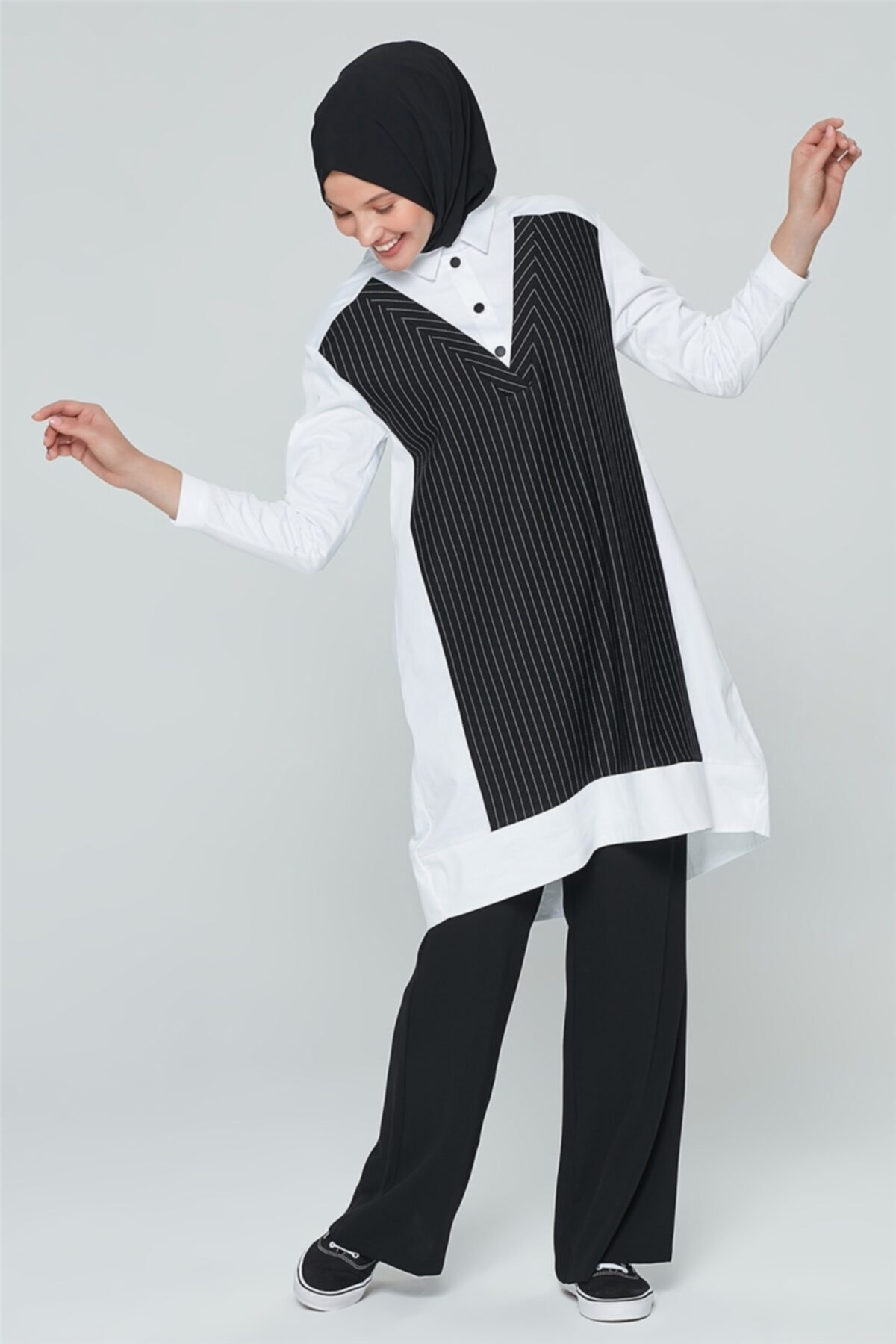 Çizgili Gömlek 20ka4312 Beyaz