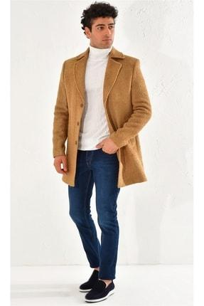 تصویر از Erkek Camel  Slim Fit  Spor Palto