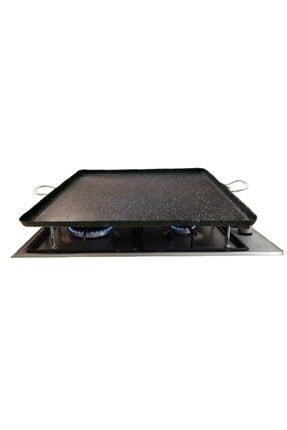 WestFace Izgara,kulplu Granit Ocak Üstü Pişirme Sacı Kare 0