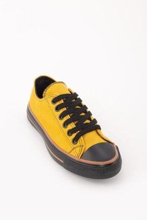 Espardile Kadın Sarı Lüks Süet Spor Ayakkabı 2