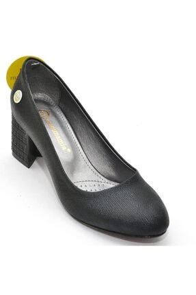 Mammamia Kadın  Siyah Kare Topuk  Topuklu Ayakkabı 1