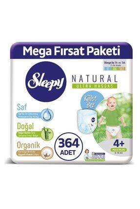 Sleepy Natural Külot Bez 4+ Numara Maxi Plus Mega Fırsat Paketi 364 Adet 0