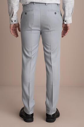 Tena Moda Erkek Gri Viskonlu Keten Pantolon 3