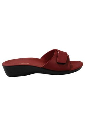 Ceyo Siena-4 Kırmızı Ortapedik Bayan Terlik & Sandalet 1