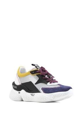 İlvi Beliz Bayan Spor Ayakkabı Mor Süet - Beyaz Deri - Siyah Deri - Sarı Deri 0