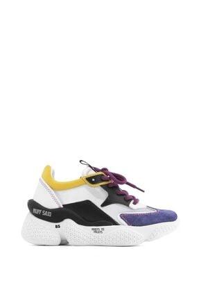 İlvi Beliz Bayan Spor Ayakkabı Mor Süet - Beyaz Deri - Siyah Deri - Sarı Deri 2