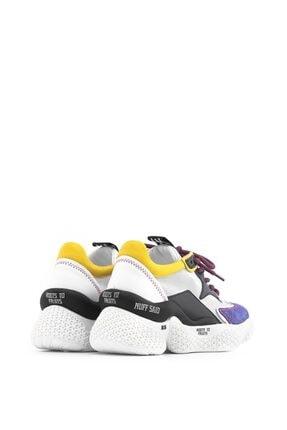 İlvi Beliz Bayan Spor Ayakkabı Mor Süet - Beyaz Deri - Siyah Deri - Sarı Deri 3