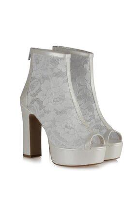 Gelin Ayakkabıları Botie Dantel 12283SDF