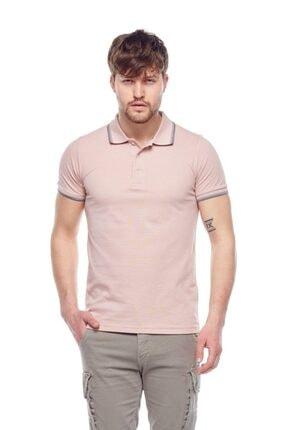 Tena Moda Erkek Koyu Pudra Polo Yaka Tişört 0