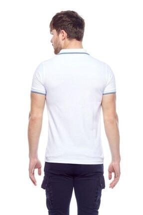 Tena Moda Erkek Beyaz Polo Yaka Tişört 3
