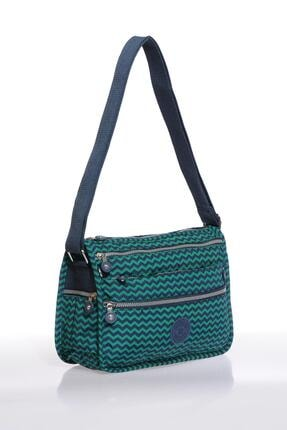 Smart Bags Smb1128-0066 Lacivert/yeşil Kadın Çapraz Çanta 1