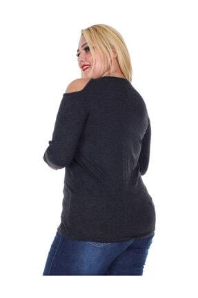 Günay Kadın Bluz Rg6210 Sonbahar Kış V Yaka Taş Omuz Detay-sıyah 2