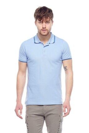 Tena Moda Erkek Açık Mavi Polo Yaka Tişört 0