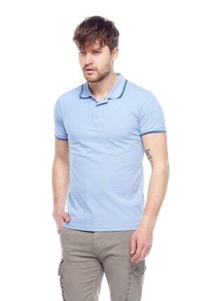 Tena Moda Erkek Açık Mavi Polo Yaka Tişört 2