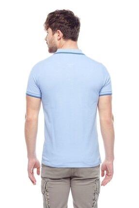 Tena Moda Erkek Açık Mavi Polo Yaka Tişört 3