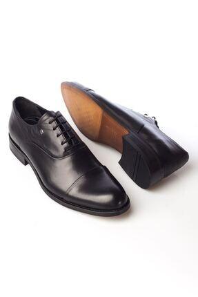 MARCOMEN Siyah Hakiki Deri Bağcıklı Erkek Klasik Ayakkabı • A19eymcm0022 3