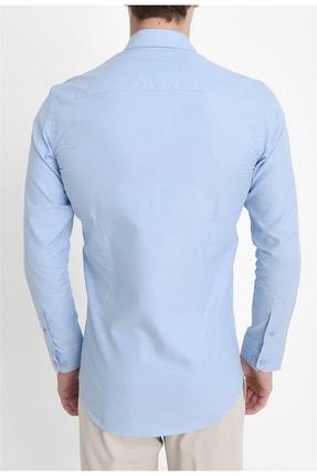 Efor Gk 549 Slim Fit Mavi Klasik Gömlek 3