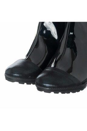 İriadam K113-1 Siyah Rugan Topuklu Büyük Numara Bot 3
