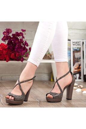 Adım Adım Platin Yüksek Topuk Abiye Kadın Ayakkabı • A192ymon0017 3