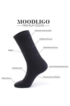 Moodligo Erkek Füme Premium 6lı Bambu Çorap 3