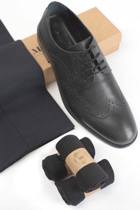 Moodligo Premium 6'lı Erkek Bambu Çorap - 2 Siyah 2 Lacivert 2 Füme 2