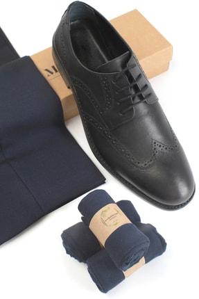 Moodligo Premium 6'lı Erkek Bambu Çorap - 2 Siyah 2 Lacivert 2 Füme 3