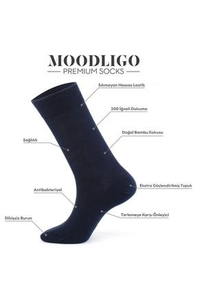 Moodligo Erkek Lacivert Premium 6lı Bambu Çorap 2