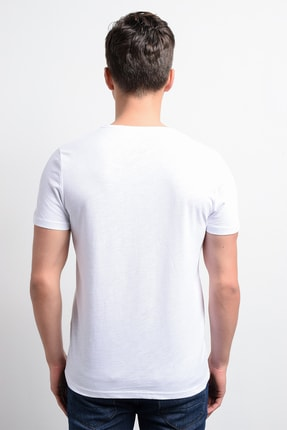Rodi Jeans Rodi Rd19ye279975 Beyaz Erkek T-shirt Flamlı Süprem Bisiklet.yaka 4