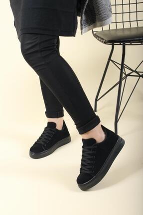 Oksit Kadın Elegan Süet Sneaker 0