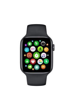 CRDKC Unisex Siyah Ateş Ve Kalp Hızı Ölçer Akıllı Saat W26-watch 6 0