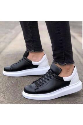 Marsetti Erkek Siyah Beyaz Yüksek Taban Ayakkabı 1