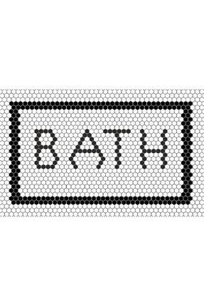 Missia Home Ekru Zemin Bath Yazılı Halı 0