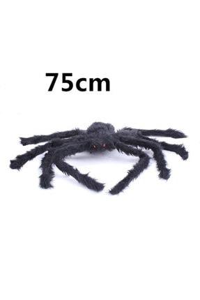 Samur Siyah Renk Tüylü Şekil Verilebilir Halloween Mega Örümcek 75 Cm 0