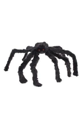 Samur Siyah Renk Tüylü Şekil Verilebilir Halloween Mega Örümcek 75 Cm 2