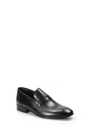 Fast Step Hakiki Deri Siyah Erkek Klasik Ayakkabı 867ma94 3