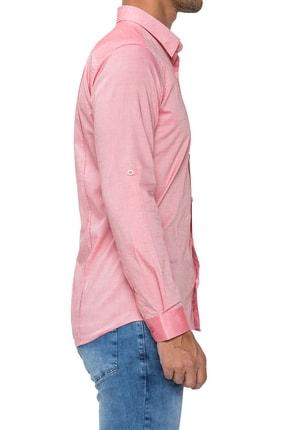 Efor Gk 475 Slim Fit Mercan Klasik Gömlek 1