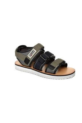 Tommy Hilfiger Yeşil Erkek Sandalet Em0em00043 011 Tommy Hılfıger Urban Tj Strap Sandal Dusty Olıve 0
