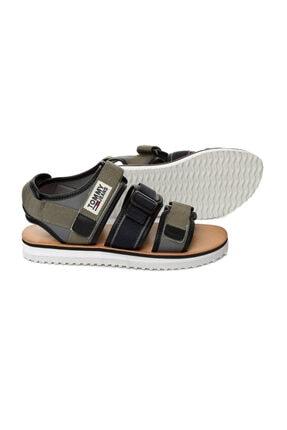Tommy Hilfiger Yeşil Erkek Sandalet Em0em00043 011 Tommy Hılfıger Urban Tj Strap Sandal Dusty Olıve 2