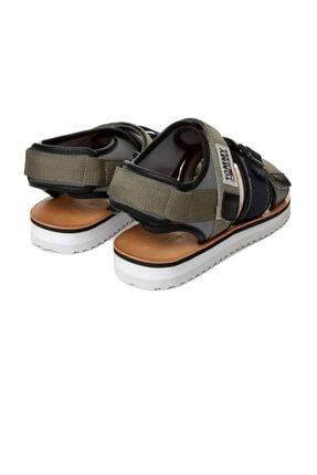 Tommy Hilfiger Yeşil Erkek Sandalet Em0em00043 011 Tommy Hılfıger Urban Tj Strap Sandal Dusty Olıve 3