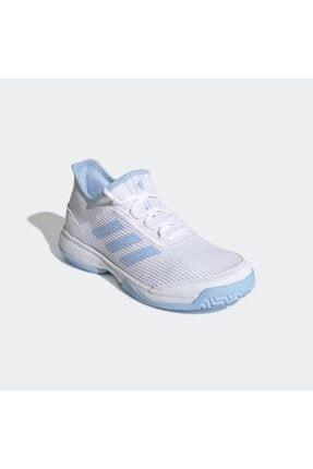 adidas G26837 Adizero Beyaz Çocuk Tenis Ayakkabısı 0