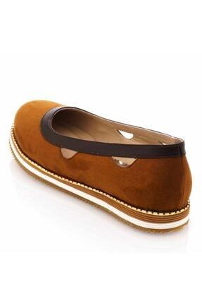 İriadam 17345 Taba Büyük Numara Gündelik Kadın Ayakkabısı 1