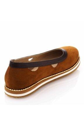 İriadam 17345 Taba Büyük Numara Gündelik Kadın Ayakkabısı 2