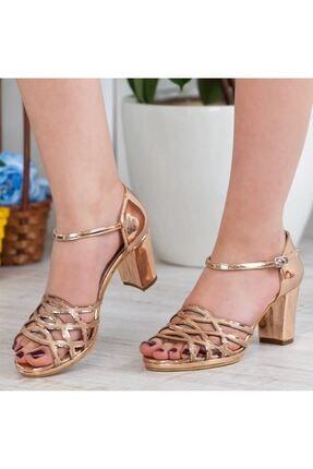 Adım Adım Bakır Yüksek Topuk Abiye Kadın Ayakkabı • A182ysml0019 1