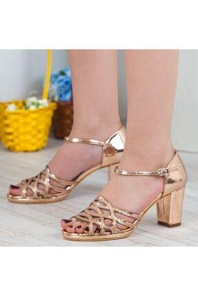 Adım Adım Bakır Yüksek Topuk Abiye Kadın Ayakkabı • A182ysml0019 2
