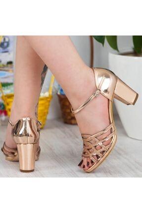 Adım Adım Bakır Yüksek Topuk Abiye Kadın Ayakkabı • A182ysml0019 4