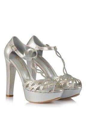 35-37 Numara Gümüş Abiye Kadın Ayakkabı 10405LTS