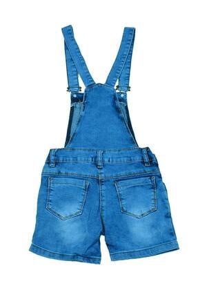 Sercino Kız Çocuk Salopet Tulum Jean 1