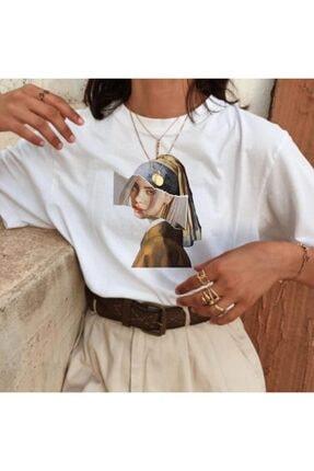 تصویر از Art - Billie Eilish Girl With A Pearl Earring Unisex T-shirt